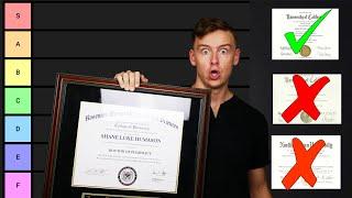 Best College Degree Tier List (College Majors Ranked)
