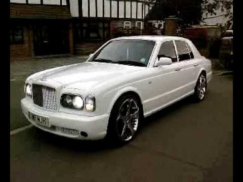 WHITE BENTLEY ARNAGE 22 INCH CHROME ALLOY WHEELS FOR HIRE ONLY £495 PER DAY