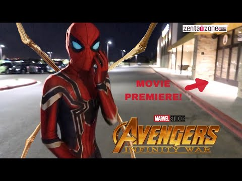 REAL LIFE INFINITY WAR SPIDER-MAN SUIT! (REVIEW) *PLUS MOVIE PREMIERE*