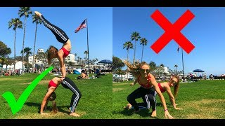 Extreme Yoga Challenge at Laguna Beach | The Rybka Twins