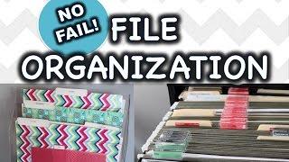 ORGANIZE FILES & PAPER CLUTTER!