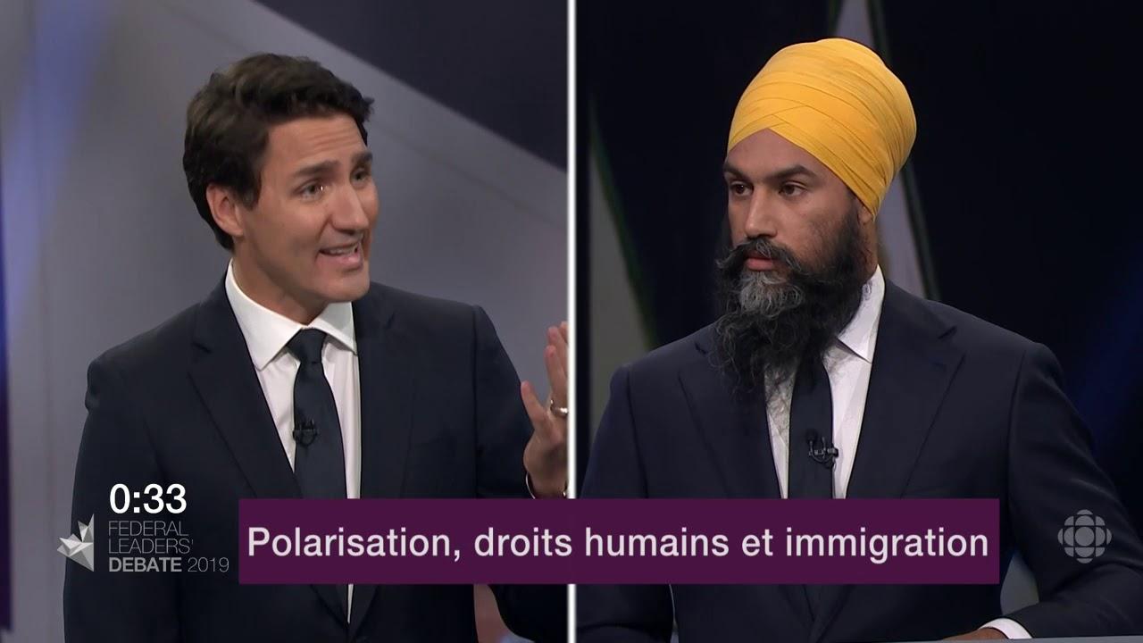 Jagmeet Singh et Justin Trudeau débattent de la Loi sur la laïcité du Québec