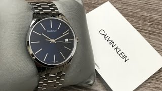 Calvin Klein Time Blue Dial Mens Watch K4N2314N Review (Unboxing)