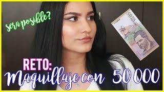 RETO: ME MAQUILLO CON 50.000 PESOS COLOMBIANOS - Manuela Giraldo