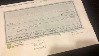 How to find your routing number, account number and check number on a personal check