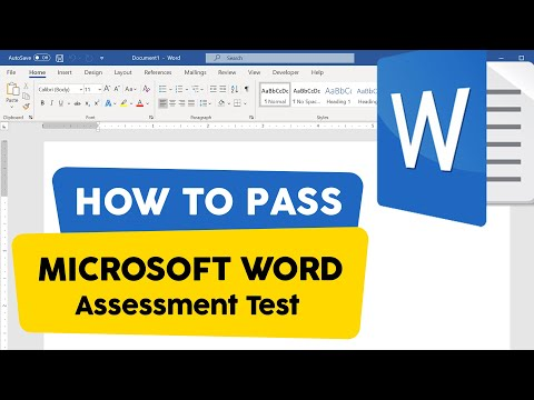 How to Pass Microsoft Word Employment Assessment Test