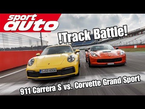 2020 Porsche 911 Carrera S Vs Corvette Grand Sport Track Battle Is