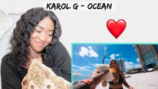 Karol G   Ocean (Video Oficial) | REACTION