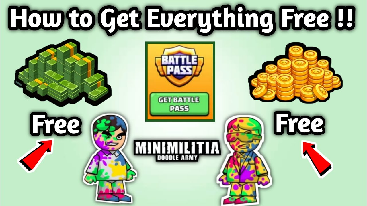 How to get everything free in mini militia