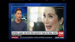 Netizen lands job with Kris Aquino's team via viral video