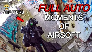 ULTIMATE FULL AUTO COMPILATION Of Airsoft! *CHEATERS GET DESTROYED*