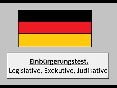 Einbürgerungstest. Три вида власти в Германии