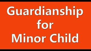 AFFIDAVIT FOR DECLARING LEGAL GUARDIANSHIP OF MINOR