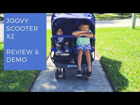 Joovy Scooter X2(DOUBLE STROLLER)  review & Demo