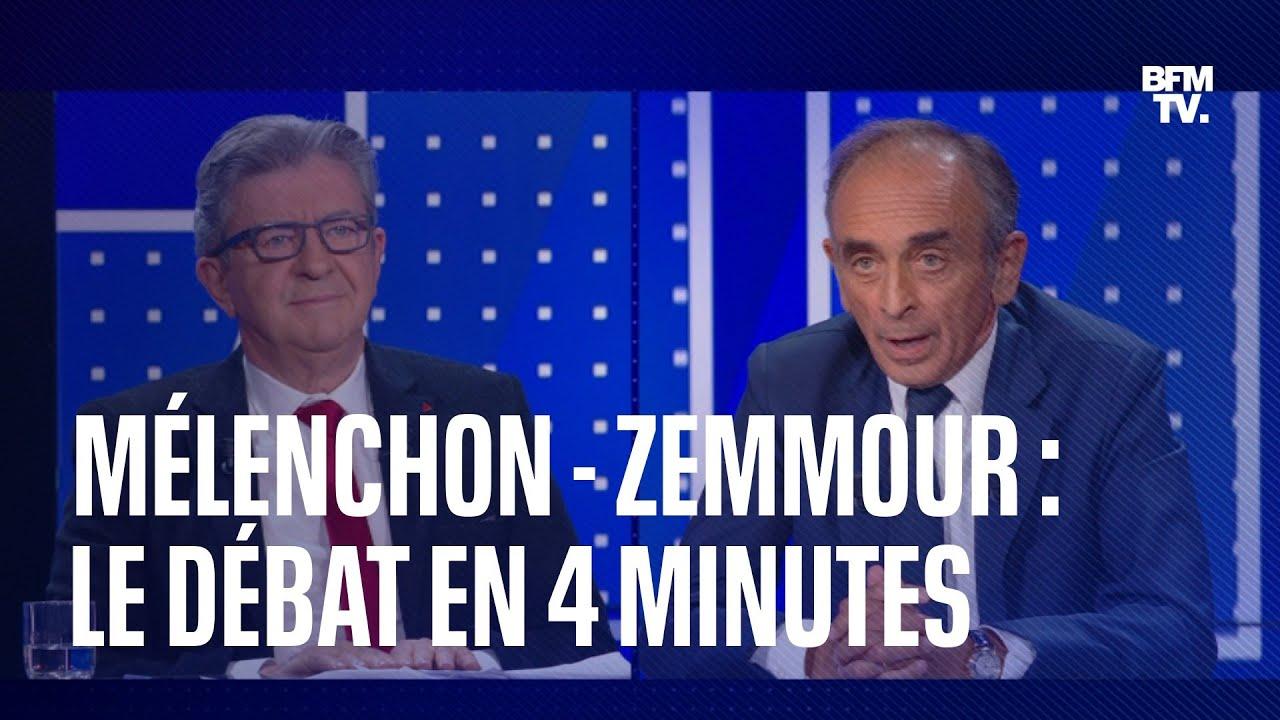 Mélenchon - Zemmour: les moments forts du débat sur BFMTV en 4 minutes