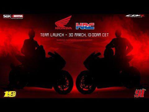 スーパーバイク Team HRCの2021体制発表動画