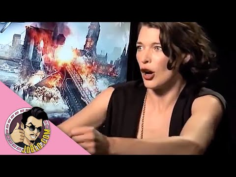 RESIDENT EVIL RETRIBUTION Interviews (2012) Milla Jovovich, Paul W.S. Anderson, Michelle Rodriguez