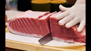 [4K]200Kg giant Tuna Cutting Show ep2 part 2_Tuna sashimi_Korean street food_Japanese food