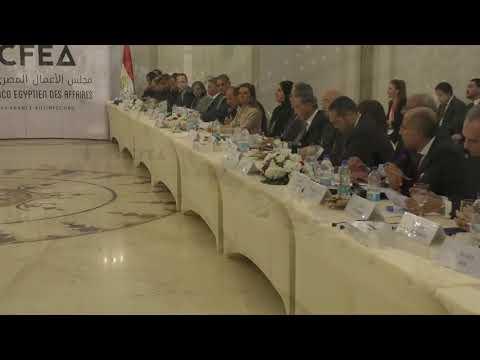 الوزير / عمرو نصار ونظيرته الفرنسية يترأسان اجتماع مجلس الاعمال المصرى الفرنسى