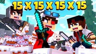 БИТВА 15х15х15х15! КЕЙК ВАРС НА 60 ЧЕЛОВЕК! СЕРЬЕЗНАЯ БИТВА ЗА ТОРТ! Minecraft Cake Wars