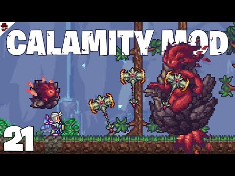 Terraria # 21 Flaming Boss Fight!  - Calamity Mod Let's Play