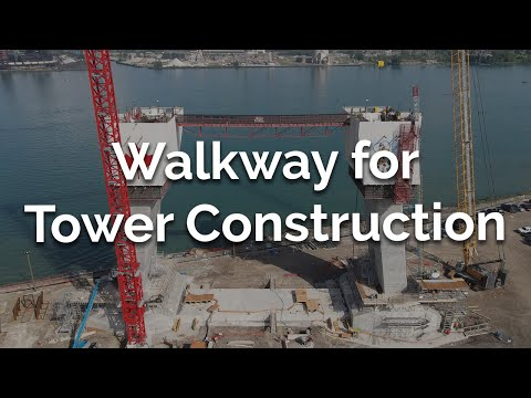 Walkway for Tower Construction
