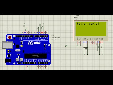 How to interface 16x2 LCD display with Arduino UNO in Proteus