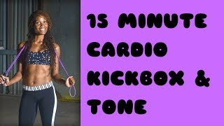 15 Min Quickie Cardio KickBoxing Workout with Karla by Fit Outside the Box with Karla