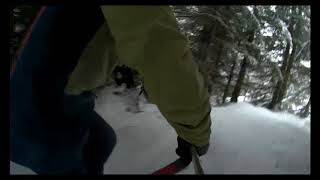 Session telemark avec Willy !