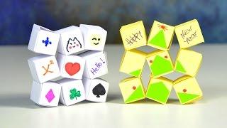 DIY Идеи для подарков | Движущиеся кубики из бумаги | Волшебные пазлы своими руками