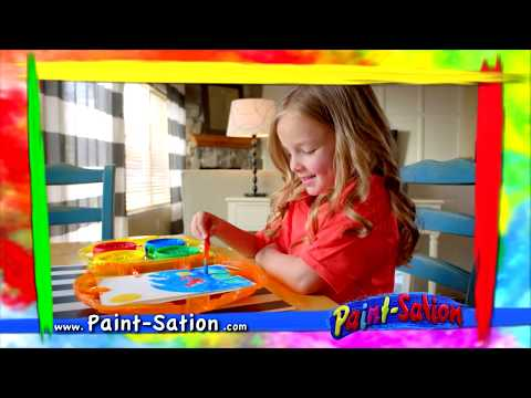 Youtube Video for Paint-sation - Unspillable Paint Set with Easel