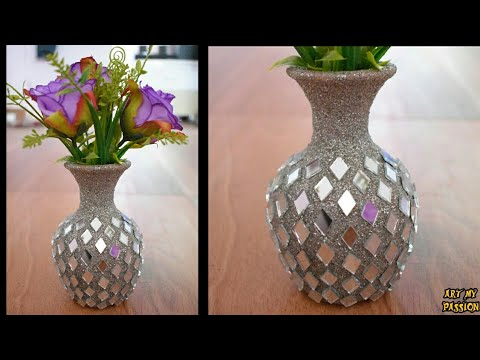 Flower Vase Making | Handmade Stylish Flower Vase | Vase Decoration Ideas | flower pot| artmypassion