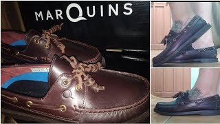 MARQUINS BOAT SHOES AMARETTO BROWN | Shop And Product Review By KRM Vlogs