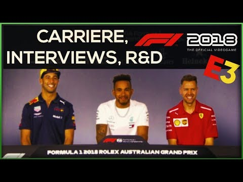 F1 2018 NOUVELLE CARRIERE INTERVIEWS ET R&D
