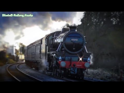 LMS 45212 cruises through Wiltshire with the 'Bath Christmas…