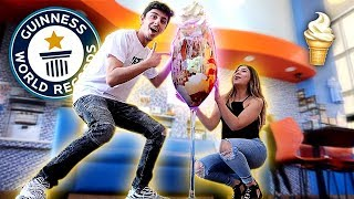 WE MADE THE WORLD'S BIGGEST ICE CREAM SUNDAE!! *WORLD RECORD*