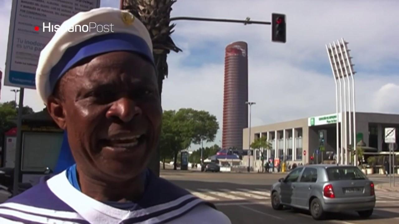 Inmigrante liberiano vende pañuelos y sueña con ser juez en España