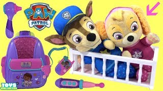 Chase & Skye Get Help From Doc McStuffins First Responders BackPack Play Set