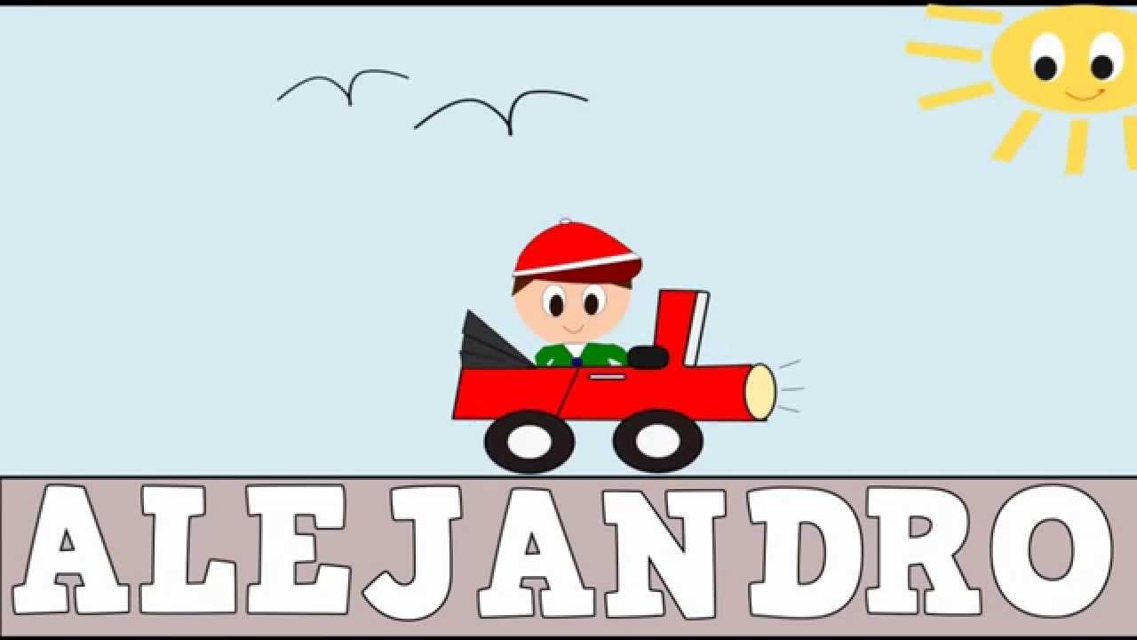 Aprender a Leer y Escribir ALEJANDRO - Vídeos educativos para Niños y Bebés - Paty y Poty