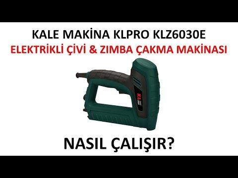 KL ZC 6030 E Elektrikli Çivi & Zımba Çakma Makinası
