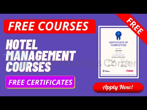 Free Online Hospitality Courses With Free Certificates | Hotel Management Courses
