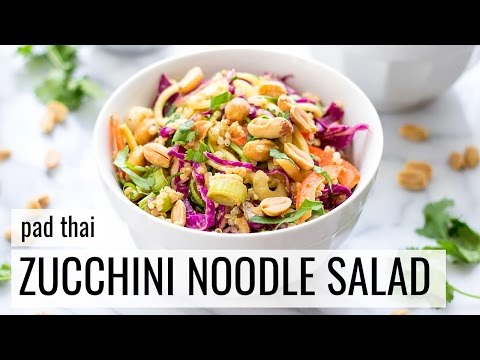 Video Pad Thai Zucchini Noodle Salad | VEGAN + GLUTEN-FREE