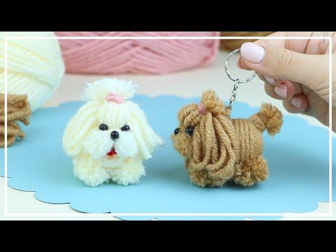 Cachorrinho fofo de lã