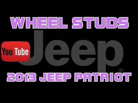 ⭐ 2013 Jeep Patriot - Wheel Fell Off - Replacing The Wheel Studs