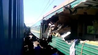 Смотреть онлайн Первые кадры катастрофы поезда  №241 - 20 мая 2014