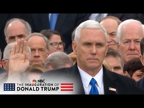 Mike Pence Takes Oath of Office for Vice President of the United States   NBC News