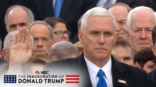 Mike Pence Takes Oath of Office for Vice President