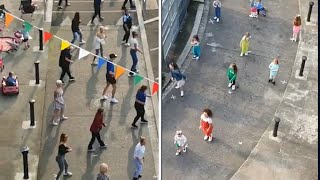 video: Watch: Irish neighbours perform socially-distanced 'Saturday Night' dance routine