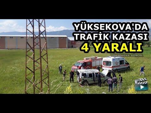 Yüksekova'da Trafik Kazası: 4 Yaralı