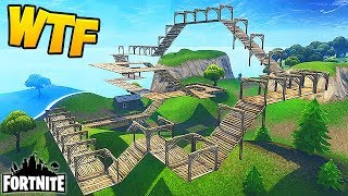 CRAZIEST SHOPPING CART TRACK! - Fortnite Funny Fails and WTF Moments! #214 (Daily Moments)